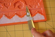 Cutting Away Excess Fondant