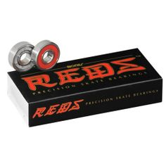 Bones Reds Bearings Quantity 16 Pack Size 8mm Skate Rated Better Than ABEC System Skateboard Roller Derby Speed Skating Bearing Replacements . $29.00