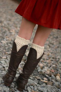Ivory Boot Socks Womens Boot Socks Cream Boot Cuffs  Gift Ideas for Teen Girls