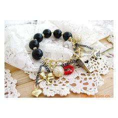 Bracelet breloques élastique - bracelet fantaisie - Laure.L*Bijoux