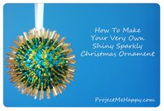 sequin and bead Discoball Ornament Tutorial