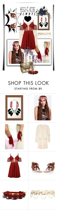 """""""Lace Dress"""" by kari-c ❤ liked on Polyvore featuring Talitha, Boohoo, JY Shoes, Forever 21 and lacedress"""