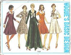 Below is a list of all of the vintage dress patterns on our wiki. Vintage Dress Sewing Patterns Searching for vintage, classic and retro dress patterns? From vintage wedding gown patterns to minidresses, this is the place! Below is a list of all of the vintage dress patterns available on our wiki (many with links to purchase the pattern). Browse through all of the different dress styles from the 1920s to the 1980s! Vogue_1137 Simplicity_2763 Spadea_1142 Advance_3429 1 of 9Add photo Top...