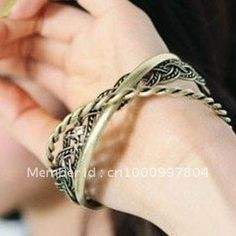Japanese and Korean pop Korean cool retro fashion woven ring bracelet multilayer bracelet