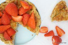 Havermout taartje met aardbeien