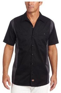 Dickies Men's Short-Sleeve Two-Tone Work Shirt