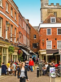 The Square in Winchester, Hampshire_ England