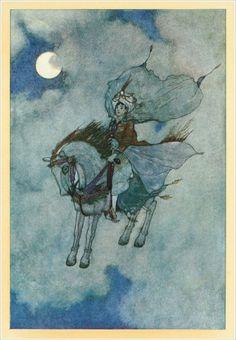 Edmund Dulac, via http://www.john-howe.com; Arabian Nights