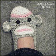 Download Now CROCHET PATTERN Sock Monkey par hollanddesigns