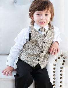Children Tuxedo/Vest Suit/Performance Clothing/Small Suits Set/Ring Bearer Suits
