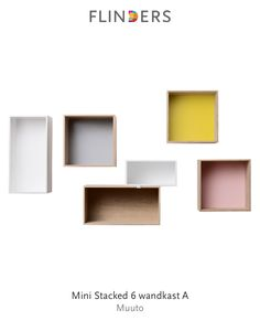 Check out this product I've found using the Flinders app: Mini Stacked 6 wandkast A http://www.flinders.nl/muuto-mini-stacked-6-wandkast-a