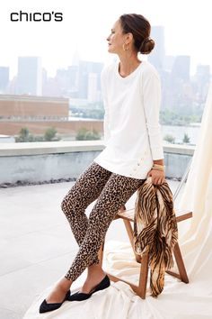 Casual Fall Outfits, Cute Outfits, Cheetah Print, Tiger Print, Fall Wardrobe, Comfortable Fashion, Printed Leggings, Fashion Outfits, Womens Fashion