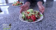 Chicken Fajita Salad video recipe with @Brad Gouthro #fitfluential