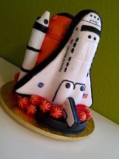 Phenomenal 25 Best Space Shuttle Cakes Images Space Shuttle Rocket Cake Personalised Birthday Cards Vishlily Jamesorg