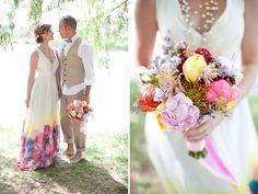 watercolor edged dress
