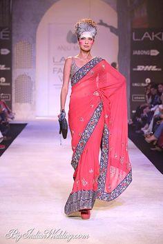 Anju Modi collection at Lakme Fashion Week S/R 2014