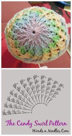Candy Swirl Crochet Hat Pattern: