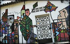 Mural in La Palma, El Salvador #art photo by http://travellersoul76.com