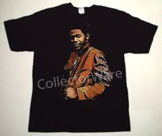 AL GREEN drawing 1 DELUXE CUSTOM ART UNIQUE T-SHIRT   Each T-shirt is individually hand-painted, a true and unique work of art indeed!  To order this, or design your own custom T-shirt, please contact us at info@collectorware.com, or visit  http://www.collectorware.com/tees-al_green.htm