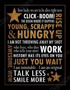 Printable Hamilton Musical Quote Subway Word by ljcDigitalDesigns