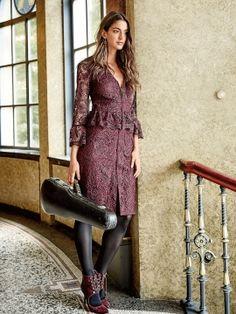Сукня мереживна на застібці-блискавці: купити викрійки, пошиття і моделі   Burdastyle