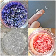 Science for Kids: Overnight Crystal Garden. Epsom Salt; Glass jars; Liquid Watercolors; Water; Bowl or glass measuring cup; Fork