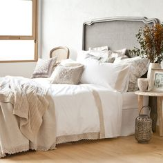 Embroidered Percale Bed Linen | ZARA HOME United Kingdom