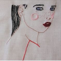 #littlestitchesportugal #handmade #handembroidery #embroidery #ricamomano #ricamo #broderie #patsousa #patsousailustração #ilustração #ilustraçãobordada #embroidedillustration #needleart #needlework #girl