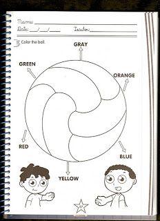 Fichas de Inglés para niños: Fichas de los colores en inglés