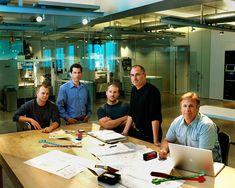Steve Jobs and the Apple team by Art Streiber
