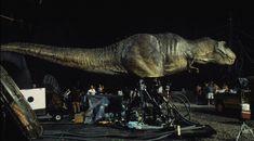 T-Rex on the set of Jurassic Park