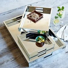 Mirror Trays #westelm  personally, I think this would look awesome on your coffee table, but only if you decide to be fun!!!  =D