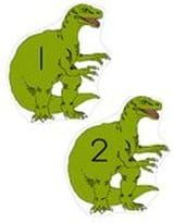 Dinosaurs numbers 1-20 large cut-outs.