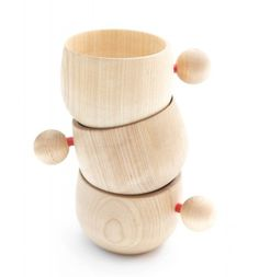 cute wooden cups