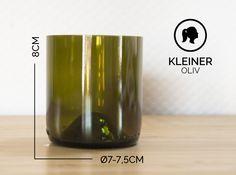 Gläser - KLEINER / Ø 7-7,5CM / OLIVGRÜN (Glas / Becher) - ein Designerstück von Glaeserne_Transparenz bei DaWanda