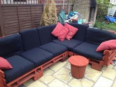 Sectional Sofa From Recycled Pallets