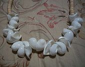 Vintage White Seashell Necklace $20 Shipping Included