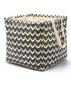 Look at this #zulilyfind! Chevron Charcoal Laundry Tote #zulilyfinds