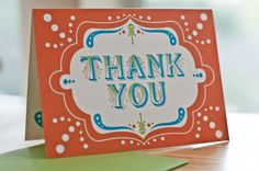 Baby Shower Thank You Card by Christine Cerniglia, via Behance