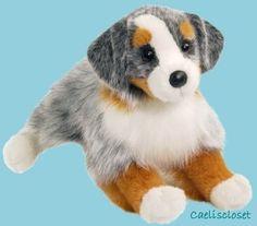 "Douglas Sinclair AUSTRALIAN SHEPHERD 16"" Plush Dog Stuffed Animal Cuddle Toy NEW #Douglas"