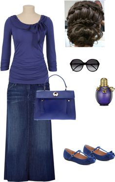 """Feeling Blue"" by lovemykidz ❤ liked on Polyvore"