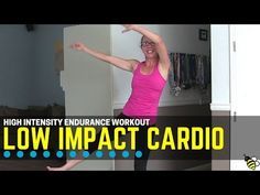 "Low Impact Cardio Endurance Home Workout ... Get ready for a challenging and VERY sweaty all-cardio workout!  We are doing high volume and high intensity work with all LOW IMPACT exercises.  That's right, lots of sweat but absolutely no jumping!  You'll need to bring your mental ""A"" game to get through this difficult workout!  This workout is all about mental endurance and you'll feel an amazing sense of accomplishment when you're finished!  Find more FREE workout videos at…"