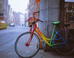 Rainbow Bike in Bruges   ---  by David Weaver