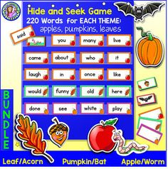 Bundle pack pre k gr 3 winter dolch sight word cardspocket bundle pack pre k gr 3 fall dolch sight word cards sciox Gallery