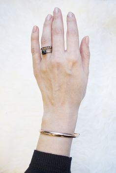 Rose gold is so beautiful, especially in this simple bangle.