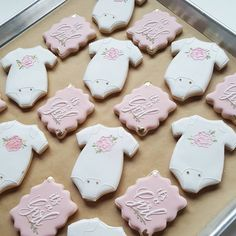 """191 Likes, 7 Comments - The Cookie Creative (@the_cookie_creative) on Instagram: """"Pretty little baby shower goodies for tomorrow. . . . #mnmade #royalicingcookies…"""""""