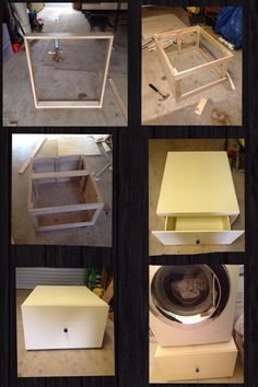 DIY Washing Machine Stand That I Made. Cutting Wood By Hand Is Very Tedious!