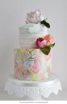 10 Flower Cakes for Spring | including this design by The Cake Whisperer  | on TheCakeBlog.com