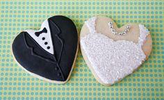 sweet treats!  bride and groom cookies