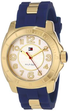 Looking for Tommy Hilfiger Women's 1781307 Casual Sport Gold-Plated Case Links Silicone Strap Watch ? Check out our picks for the Tommy Hilfiger Women's 1781307 Casual Sport Gold-Plated Case Links Silicone Strap Watch from the popular stores - all in one. Tommy Hilfiger Watches, Tommy Hilfiger Women, Gold Watches Women, Casual Watches, Sport Casual, Women's Casual, Watch Sale, Stainless Steel Watch, Sport Watches